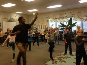 King-Edqux Robinson inspires Lincoln students to move.